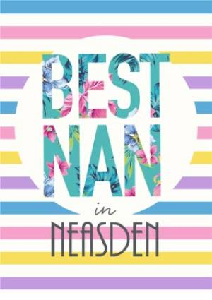 Greeting Cards - Best Nan In Personalised Placed Card - Image 1