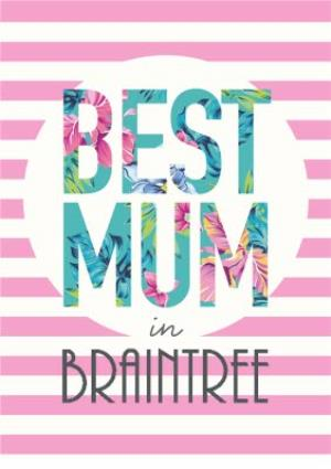 Greeting Cards - Best Mum In Personalised Placed Card - Image 1
