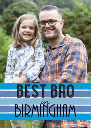 Greeting Cards - Best Bro Personalised Photo Upload Card - Image 1