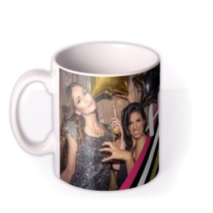Mugs - Hen Party Glitter Photo Upload Mug - Image 1