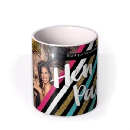 Mugs - Hen Party Glitter Photo Upload Mug - Image 3