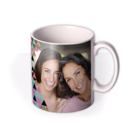 Mugs - Geometric Pattern Best Mum In The World Photo Mug - Image 2