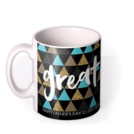 Mugs - Geometric Shapes Best Dad Custom Text Mug - Image 1