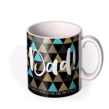 Mugs - Geometric Shapes Best Dad Custom Text Mug - Image 2