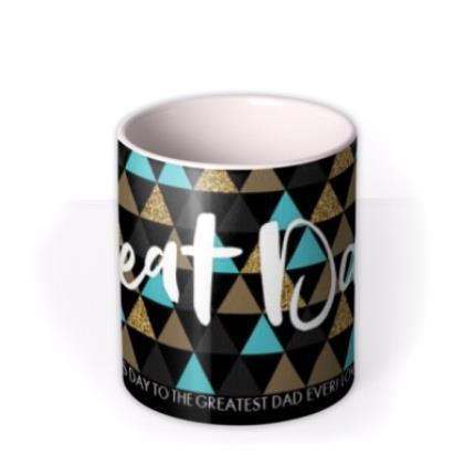 Mugs - Geometric Shapes Best Dad Custom Text Mug - Image 3