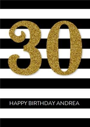 Greeting Cards - 30th Birthday Card - Image 1