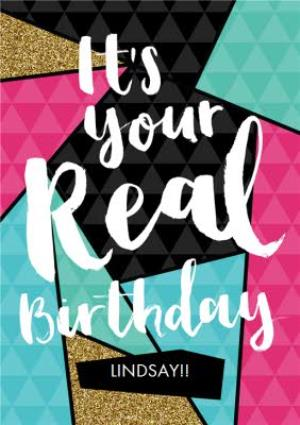 Greeting Cards - Leap Year It's Your Real Birthday Personalised Happy Birthday Card - Image 1