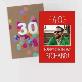 Milestone birthday cards