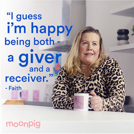 moonpig joy of giving campaign