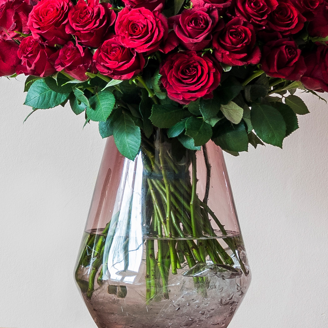 valentines luxury red roses delivered