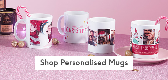 personalised and photo christmas mugs