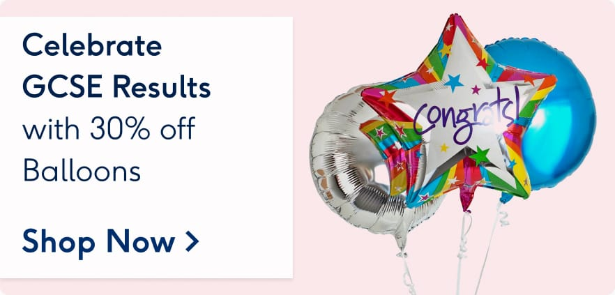 Celebrate GCSE results with 30 off balloons