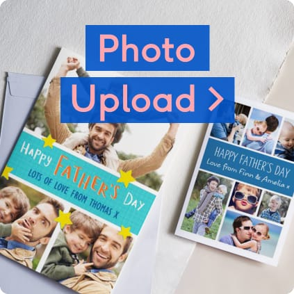 Photo upload cards for Fathers Day