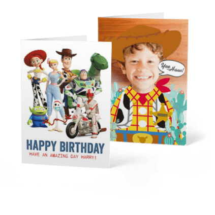 Toy Story kids birthday cards
