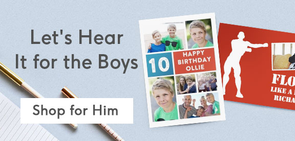Personalised Birthday Cards For Boys