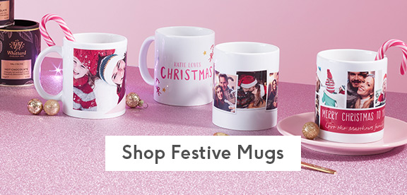 personalised festive mugs with
