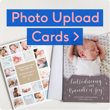personalised new baby photo cards
