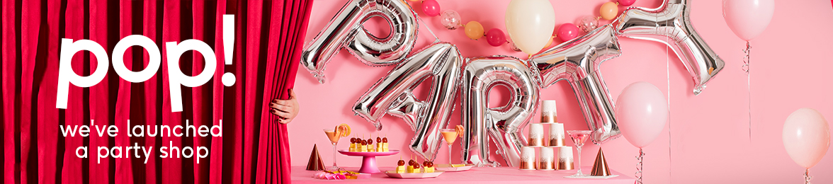 party shop 20% off all party props