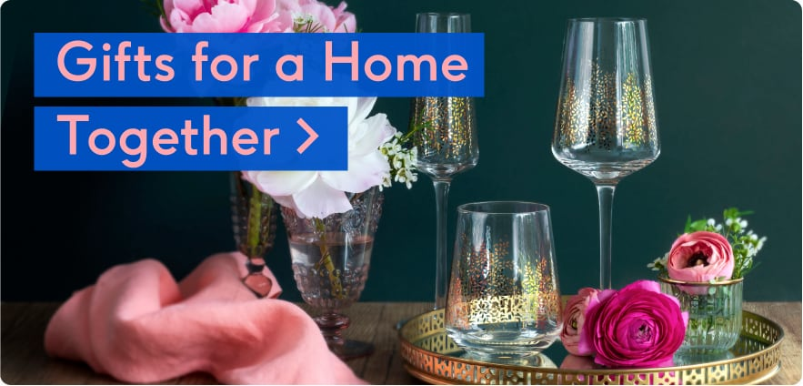 wedding homeware gifts and personalised champagne