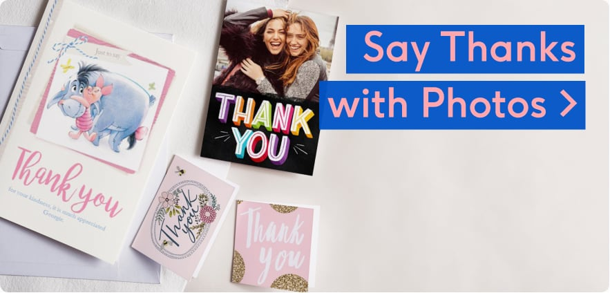 personalised photo thank you cards