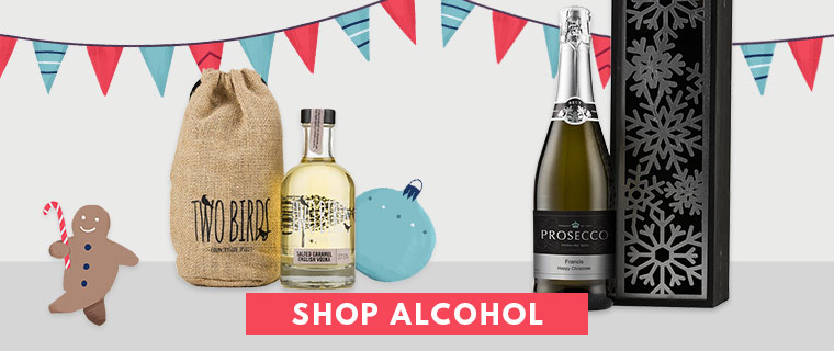 Alcohol gifts including wine gift sets, personalised champagne, beer bottles and alcohol gift sets by post