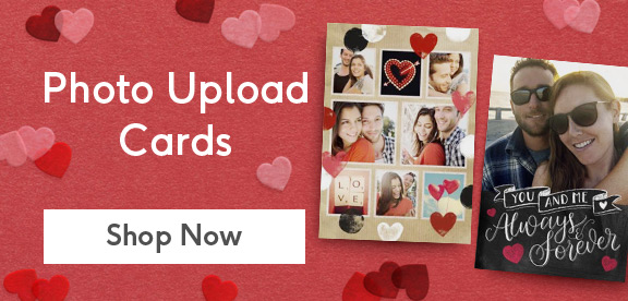 personalised valentines day photo cards